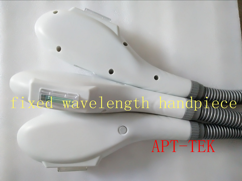 Fixed wavelength IPL handpiece with top quality sapphire crystal