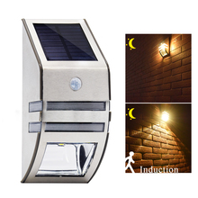 Waterproof Solar Sensor LED Lamp PIR Motion Solar Light Garden Yard Outdoor