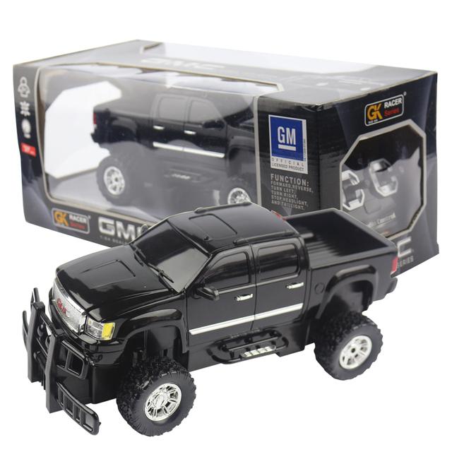 Licenciado 1/24 rc modelo do carro para gmc controle remoto controle de rádio carro de corrida crianças toys para presentes de natal das crianças
