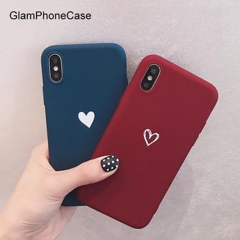 GlamPhoneCase น่ารัก Love Heart Case สำหรับ iPhone XS Max XS XR X 8 8 plus 7 7 plus 6 /6 วินาที Plus การ์ตูน Soft TPU ปกหลัง