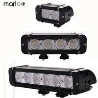 Marloo 20W 40W 60W Led Bar 4 7 10 Inch Offroad 10W Leds Single Spot Work Light Bar For Lada Niva 4x4 Jeep Ford Car Styling