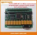 Rápido Envío Gratis 2 unids FX1N PLC placa de control industrial 25MR MT 51 MCU programable conectar junta de control de texto de la pantalla táctil módulo