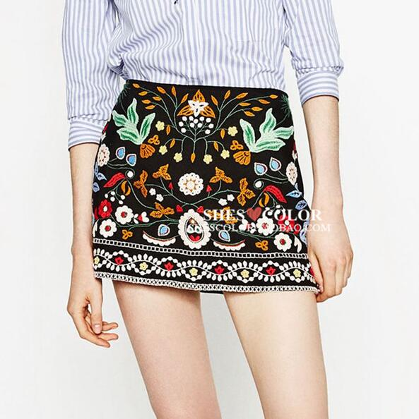 Mexico Folk Custom Embroidery Skirt In Asia Pacific Islands