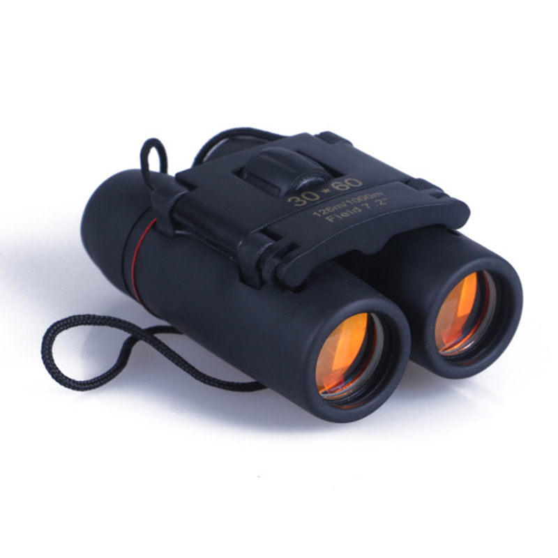 Vwinget New Arrive 1*Outdoor Tools Optic Travel 30 x 60 Folding Day Night Vision Binoculars Telescope + Bag Free shipping! optical instrument