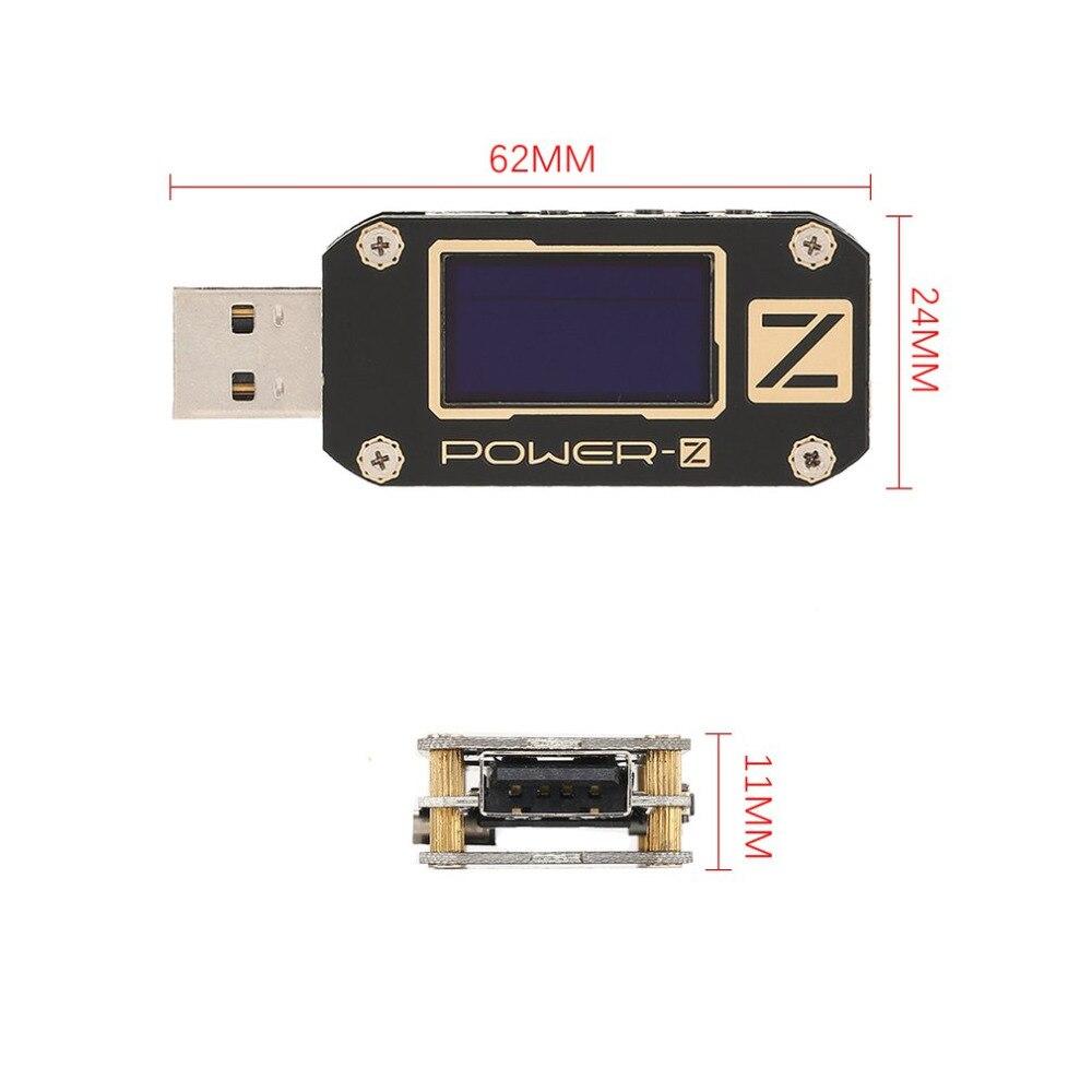POWER-Z USB PD Testeur KM001 Professionnel Numérique Voltmètre Ampèremètre Voltmètre Ondulation Double Type-C Test OLED Chargeur LABORATOIRE