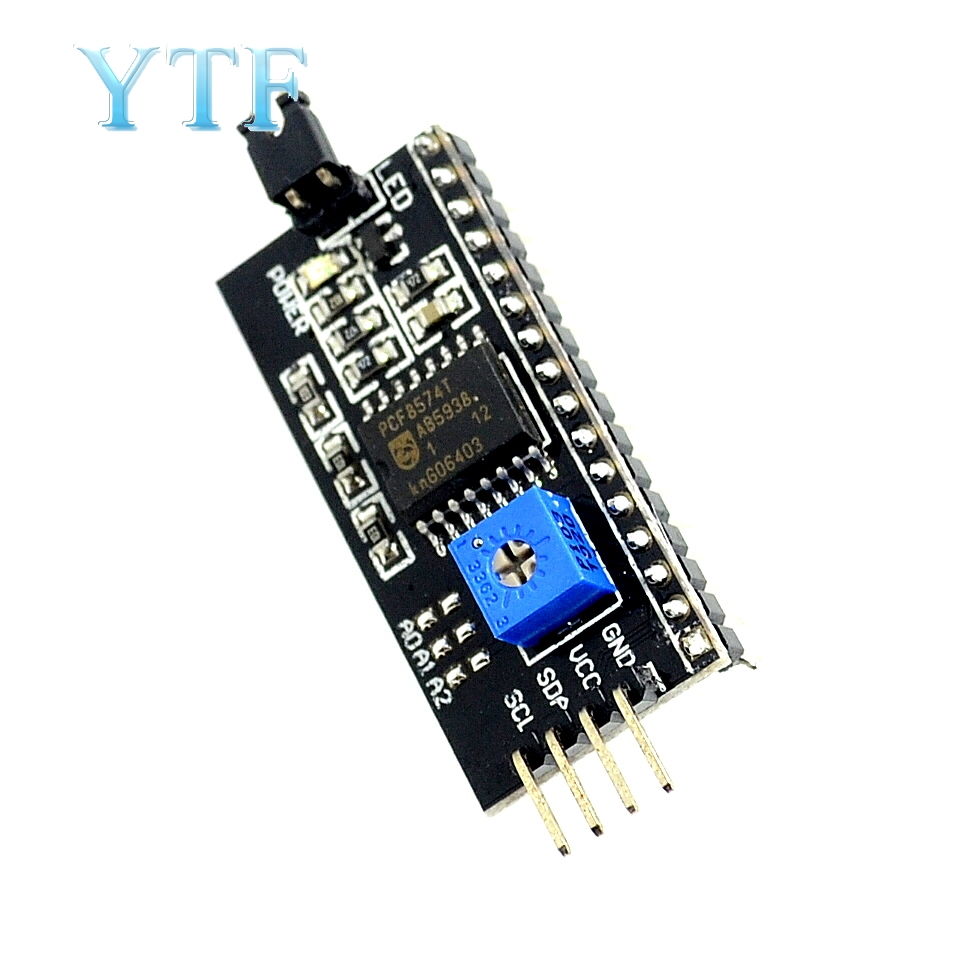 1Pcs IIC/I2C Interface LCD1602 Adapter Plate Board 5V LCD Adapter Converter Module For LCD1602 2004 LCD For Arduino