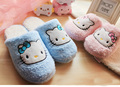 New Fashion Hello Kitty Home Slippers Women Cute Indoor Shoes Super Warm Soft Winter House Shoes Plush Slippers Pantufas Pantufa