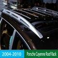 Для Porsche Cayenne 2004-2010 рейки на крышу для багажника  стойки для багажа  верхние рейки  рейки из алюминиевого сплава