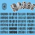 12 unids/lote de Transferencia de Agua Del Arte Del Clavo Etiqueta Completa Wraps Negro Encaje Decoración de Uñas Decal BD025-036