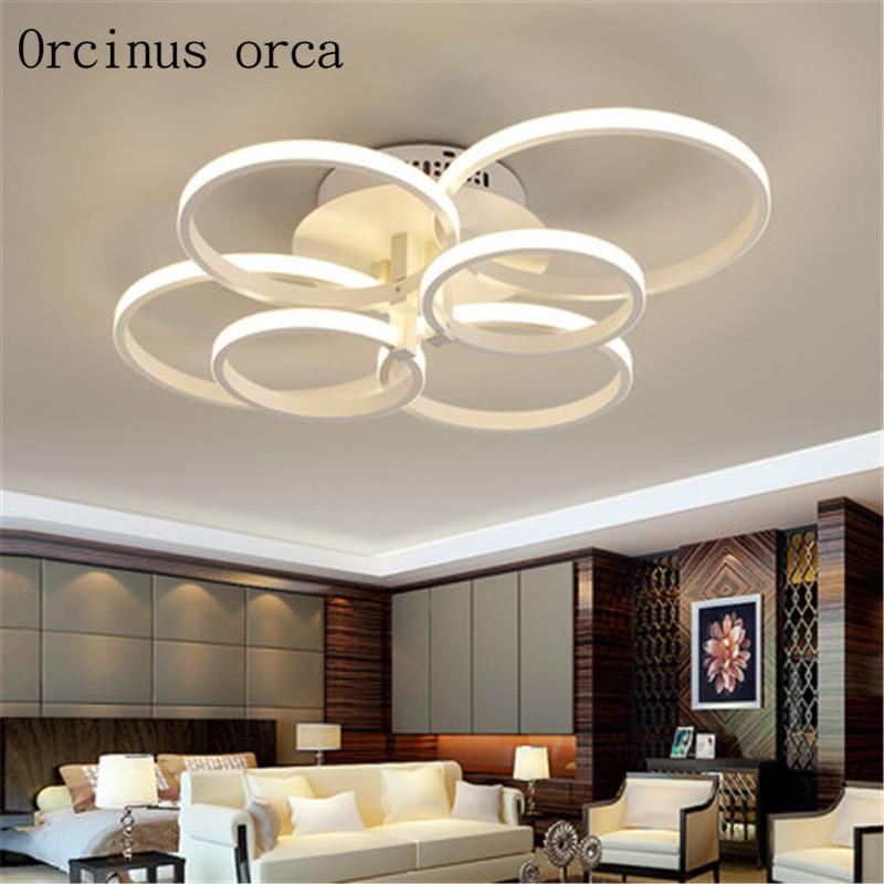 Kreativní kruhový obývák světlo moderní moderní tenká ložnice lampa personalizované umění vedla ložnice lampy