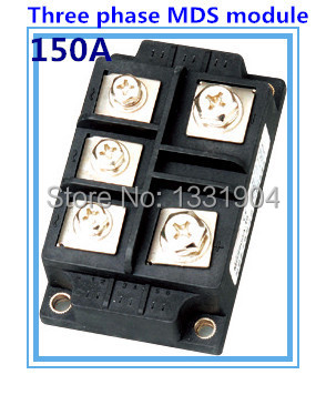 150A three phase Bridge Rectifier Module MDS 150 welding type used for input rectifying power supply and so on inverter welding machine repair commonly used parts of the application 1600v mds100a three phase rectifier bridge