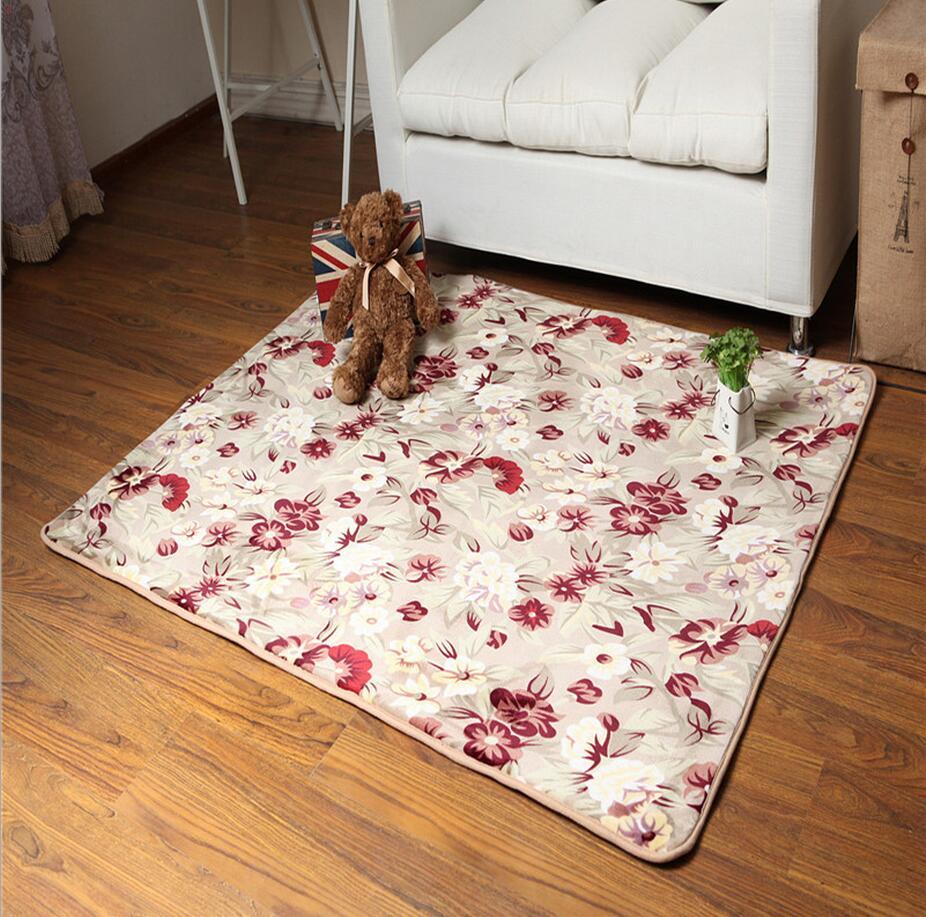 160cmx160cm Large Carpet For Living Room Anti Slip Parlor Floor Mats Rugs Beding Floral
