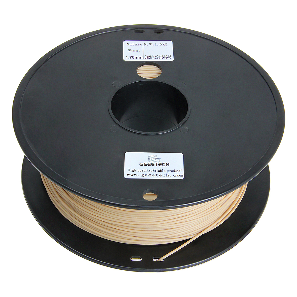 Free shipping 1 75mm 1kg roll Wood Filament 3D Printer Laywood Material Orignial Quality Sample Natural