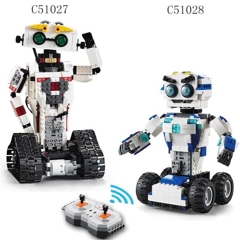 Building Blocks Legoings technic Motor Remote control robot C51027 C51028 2 In 1 Deformation robot humanoid Programming toys