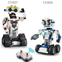 Building Blocks Legoings technic Motor Remote control robot C51027 C51028 2 In 1 Deformation robot humanoid Programming toys