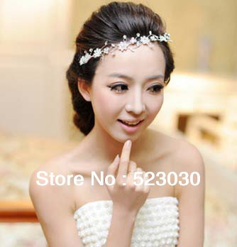 free shipping romantic rhinestone flower hair accessories bridal headwear crown tiara wedding