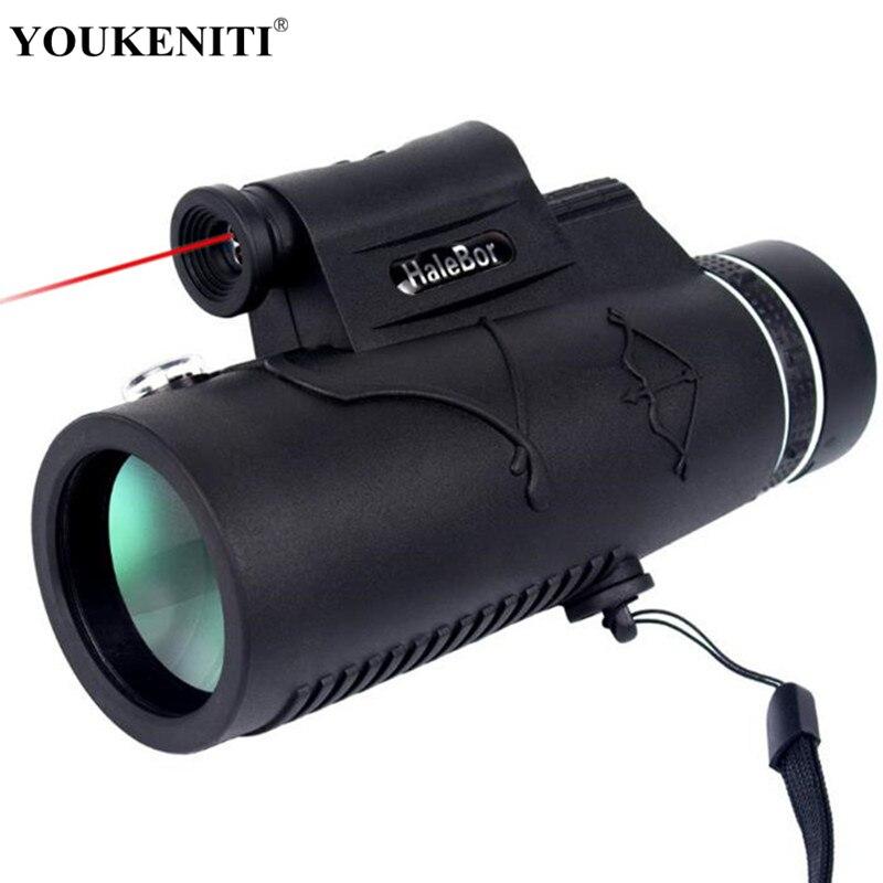 Monocular BAK4 luz láser visión nocturna telescopio turismo 12X50 Prismaticos para teléfono herramientas de caza senderismo ocular