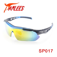 Panlees Hot Model UV400 5 interchangeable lens Sport Sunglasses with RX Optical Inserts Outdoor Eyewear For Player