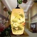 Estilo Chinês moderno Cerâmica Abajur E27 90-260 V 6 W-15 W Lâmpada Pingente Restaurante Luminária