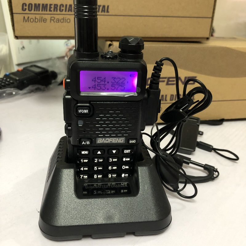 Image 4 - baofeng dm 5r walkie talkie DMR Radio VHF UHF 136 174MHz 400 480MHz TK port 2000mAh battery DMR two wayr adio fro hunting 10 KM-in Walkie Talkie from Cellphones & Telecommunications
