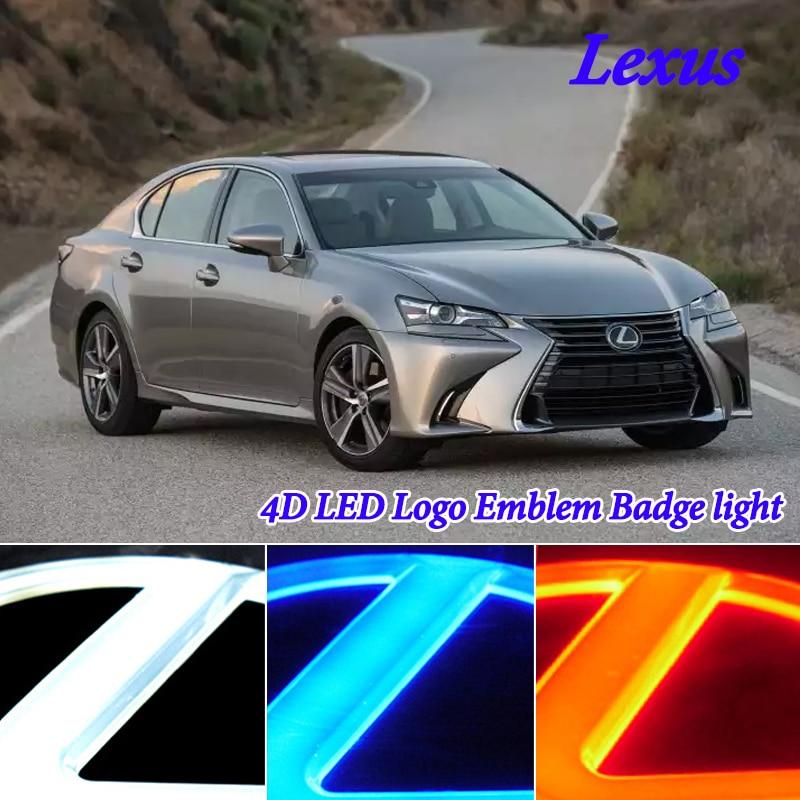 4D Cold Light LED Badge Emblem Logo Light for Lexus GS300 ES300 ES240 DS350 LS270 RX450h