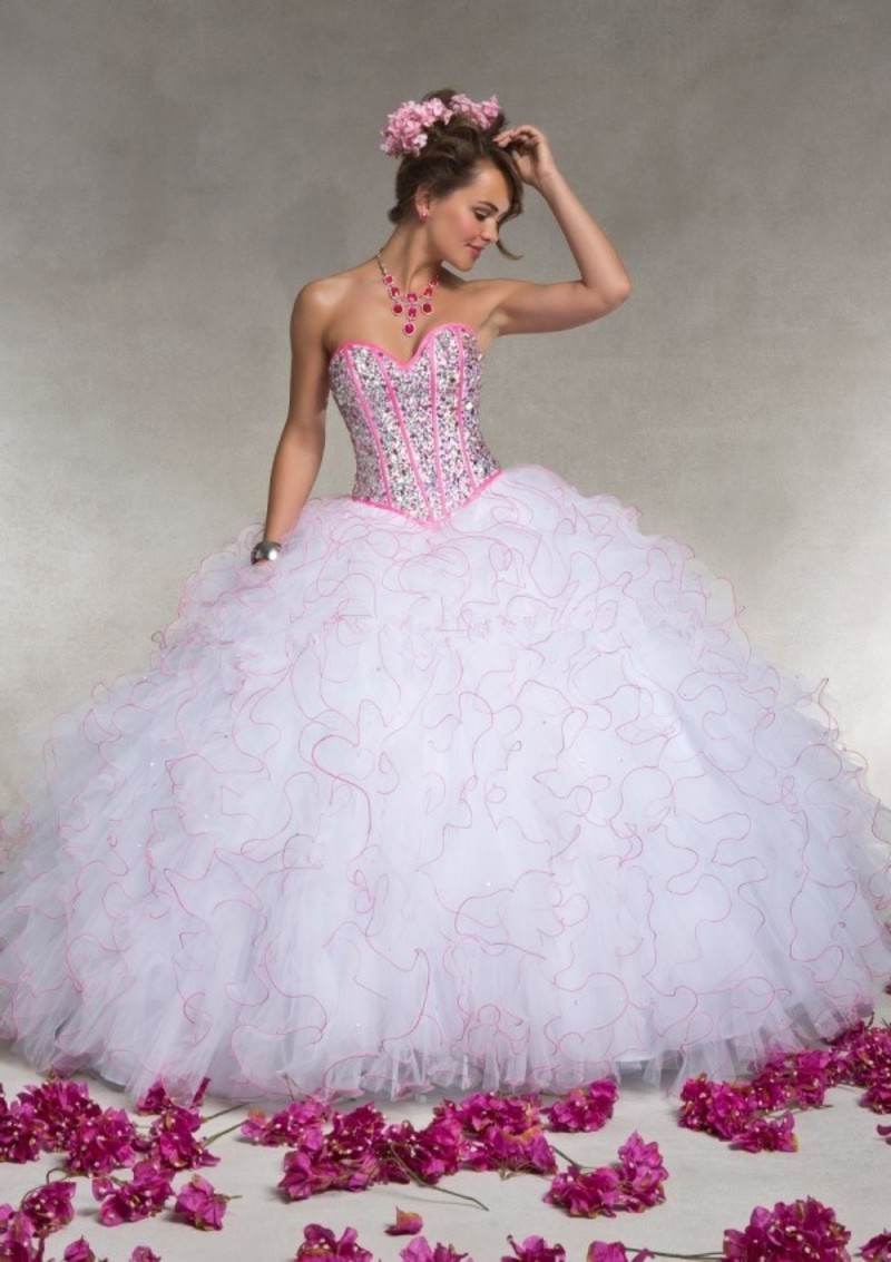 Popular Quinceanera Pink and White-Buy Cheap Quinceanera Pink and ...
