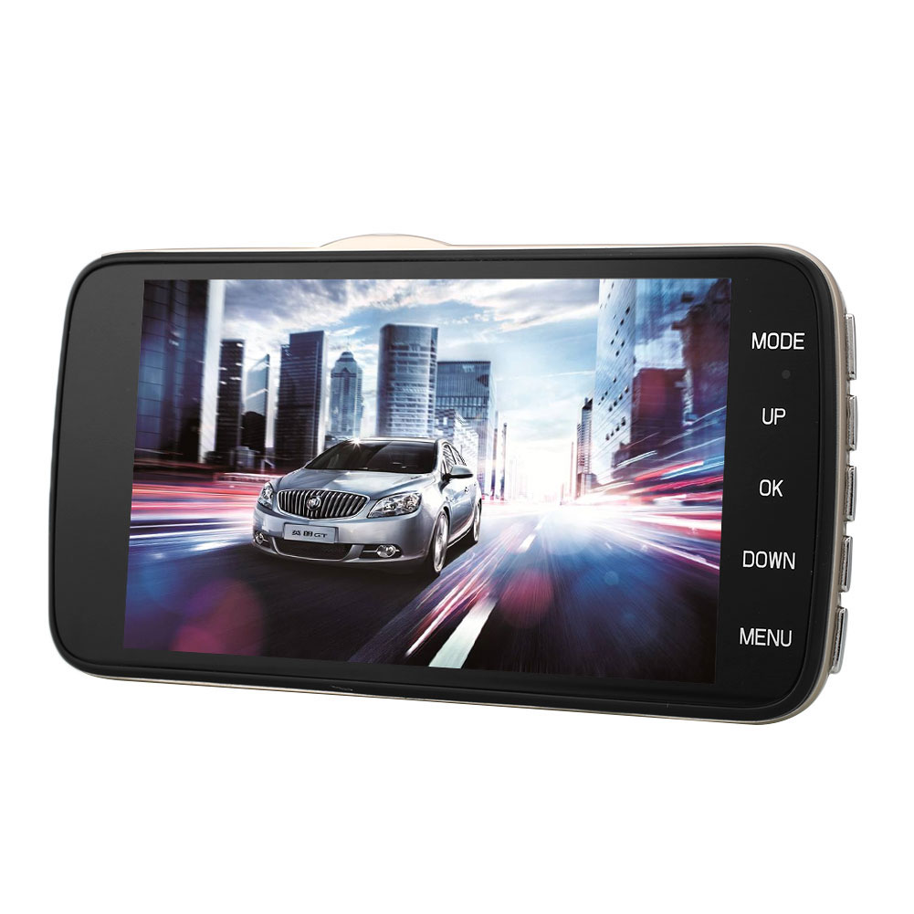 ФОТО 4'' H30 HD 1080P Dual Lens Car DVR CCTV Reversing Mini Micro Camera Video Dash Cam Recorder G-sensor
