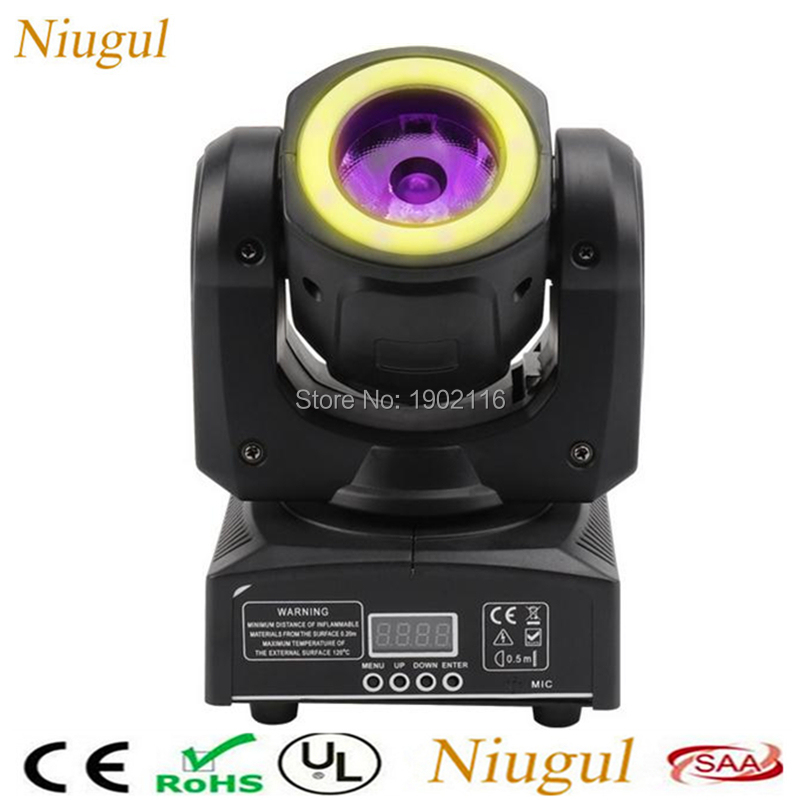 RGBW 4in1 Mini LED 60W Moving Head Spot Beam Stage Light With RGB 3in1 LED Strip Mixed Effect For Professional KTV DJ Disco Bar