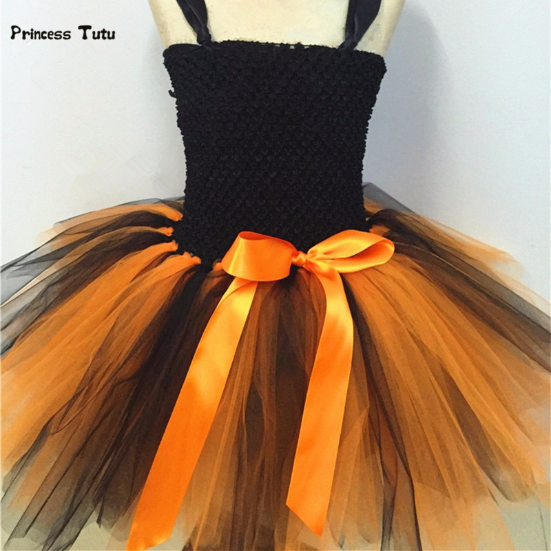 Pumpkin Halloween Tutu Dress Girls Party Halloween Costume For Kids Girls Princess Dress Children Festival Birthday Dance Dress
