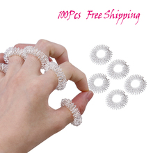 100Pcs Finger Massage Ring Acupuncture Ring Health Care Body
