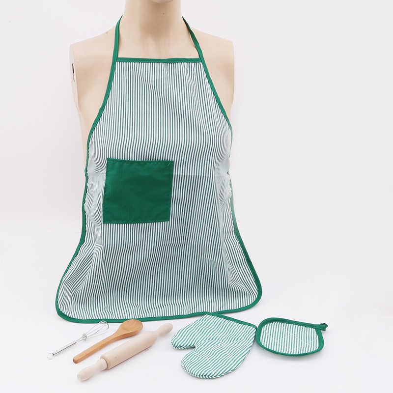 Горячий DIY набор для выпечки, набор игрушек, Детский набор для повара, ролевые фартук для игры, перчатки, Скалка, баклажаны, плиты, подарок для детей