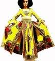 Trajes para Mujeres Ropa de Invierno de Dos Piezas de Manga Larga Corta Crop Tops + Falda Maxi Dashiki Establece para Las Mujeres 6XL BRW WY404