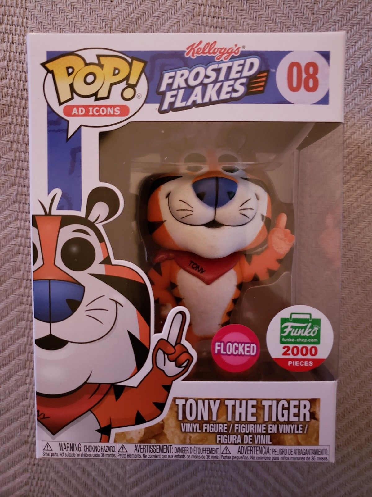 Original Funko Pop Asia Astro Boy Vinyl Action Figure Collectible The Movie Exclusive 2000pcs Flocked Official Ad Icons Tony Tiger Model