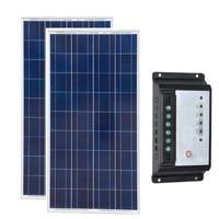 키트 태양 전지 패널 자동차 12v 150w 2 Pcs Panneaux Solaire 12v 300W 태양 광 충전 컨트롤러 12 v/24 v 20A Motorhome 캐러밴 RV 요트