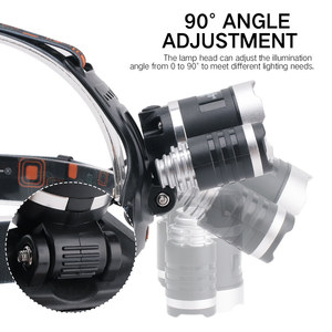 Image 5 - BORUiT T6 XPE 390nm UV LED far 1000LM 3 Mode güçlü far şarj edilebilir 18650 su geçirmez baş feneri kamp balıkçılık için