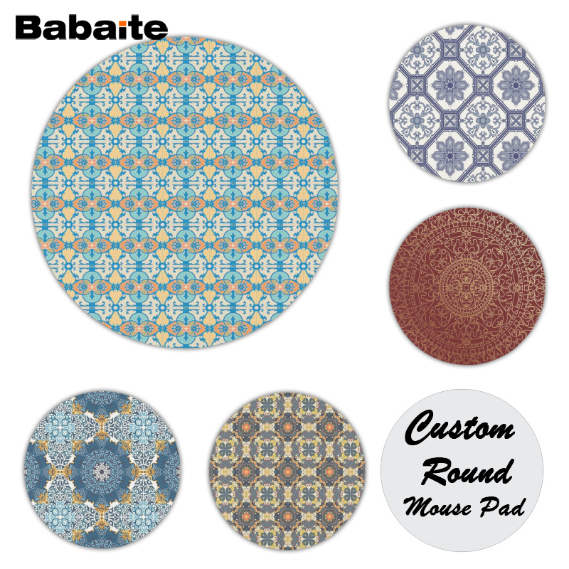Babaite New Design Classical pattern Comfort Mouse Mat Gaming Mousepad Size for 20x20cm 22x22cm Rubber Mousemats