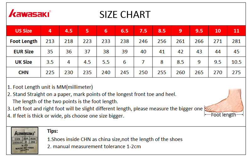 badminton shoes size