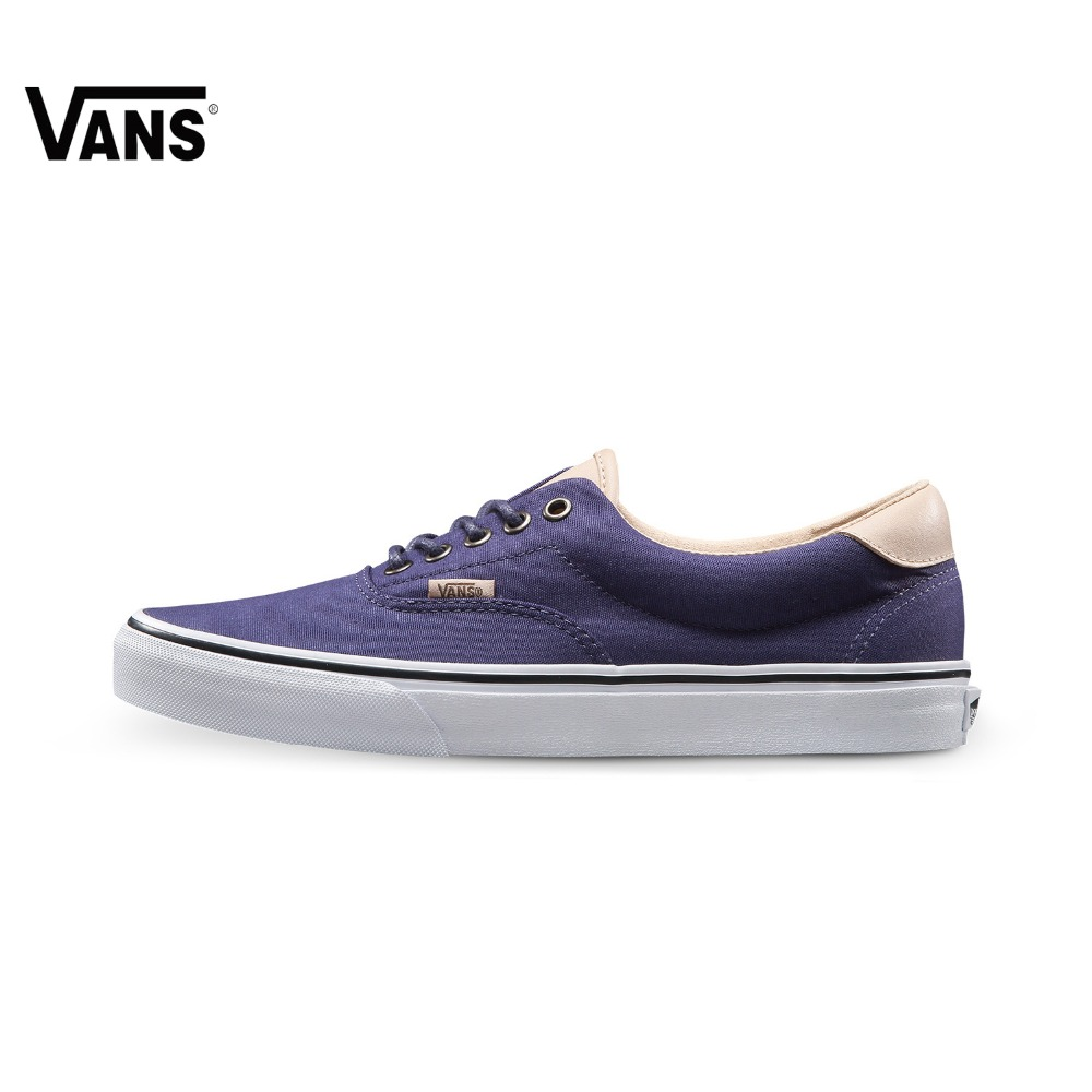 Original Vans New Arrival Summer Blue and White Color Low-Top Men's Skateboarding Shoes Sports Shoes Canvas Shoes Sneakers blue and white canvas anti static shoes esd clean shoes pharmaceutical shoes work shoes add cotton