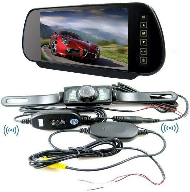 Car Wireless Rear View System 7 inch Car Monitor car rearview mirror 2 4G Wireless rear