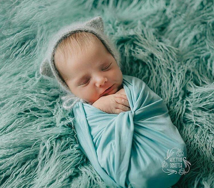 100 75cm Faux Fur MONGOLIAN FUR Blanket Basket Stuffer Photography Props Newborn Photography Props