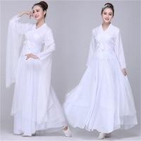 Women's Adult Ethnic Classical Dance Costumes Elegant Chinese Style Fresh Elegant White/Red Costume Performance Hanfu TB18708
