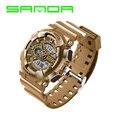 Cool SANDA Dual Time Digital & Analog LED Backlight Waterproof Army Sport Wristwatches Wrist Watch for Men Boy OP001