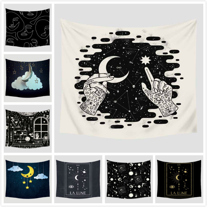Cartoon Tapestry Home Wall Hanging Furnishing Travel Beach Picnic Polyester Yoga Shawl 150x230cm High Quality Bohemian Blanket