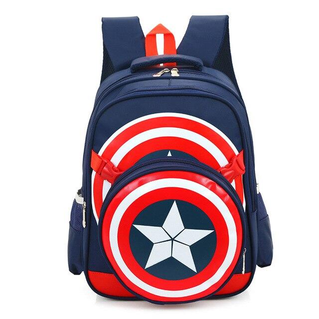 2016 Captain America School Bags for Boys Student Shoulder Bag Satchel High Quality Children Backpacks Best Gift For Grade 1-6