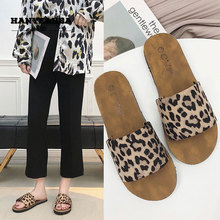 Leopard Shoes Womens Summer Casual Fashion Flat Slippers Classic Fashionable