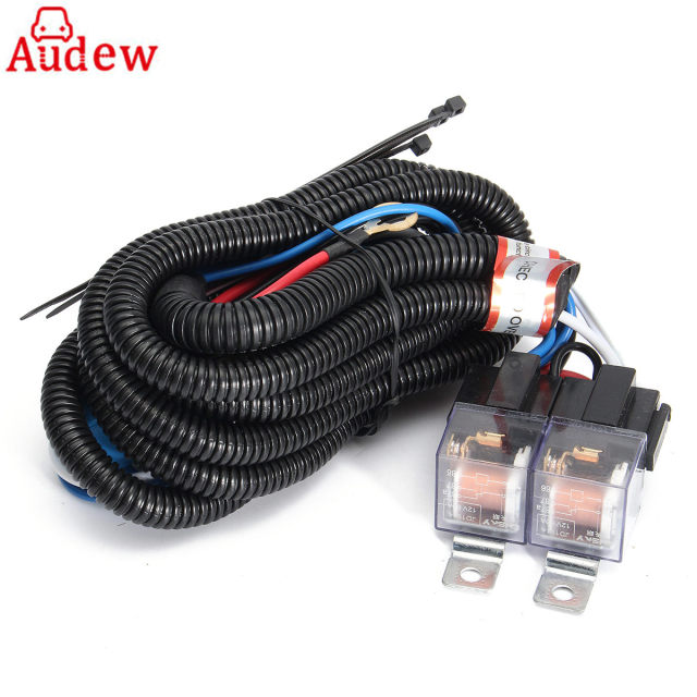 Terrific Car 12V H4 4 Lamp Bulbs Headlight Wire Wiring Harness Ceramic Relay Wiring Digital Resources Funapmognl
