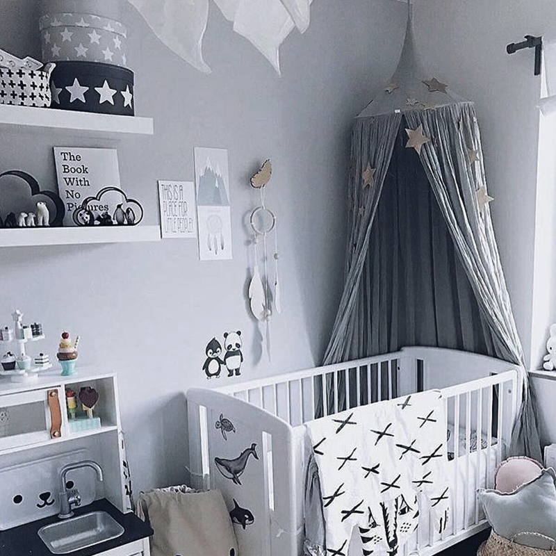 Crib Netting Impartial Round Baby Bed Mosquito Net Dome Hanging Cotton Bed Canopy Mosquito Net Curtain For Hammock Baby Kids Anti-mosquito Baby Bedding