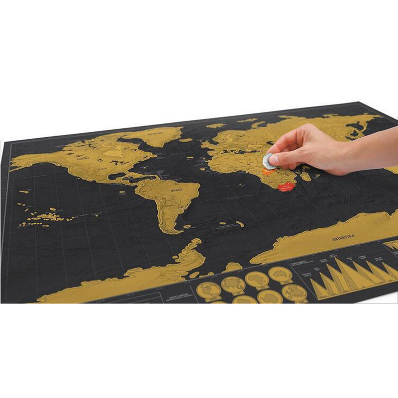 1pcs deluxe erase black world map scratch off world map personalized aeproducttsubject gumiabroncs Image collections