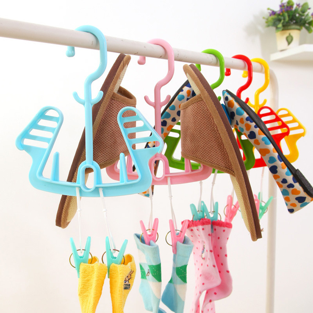 Practical Drying Shoes Rack Shoe Storage Cabinet Rotating Drying Wind Sock With Superimposed Clip Clip Home Organization