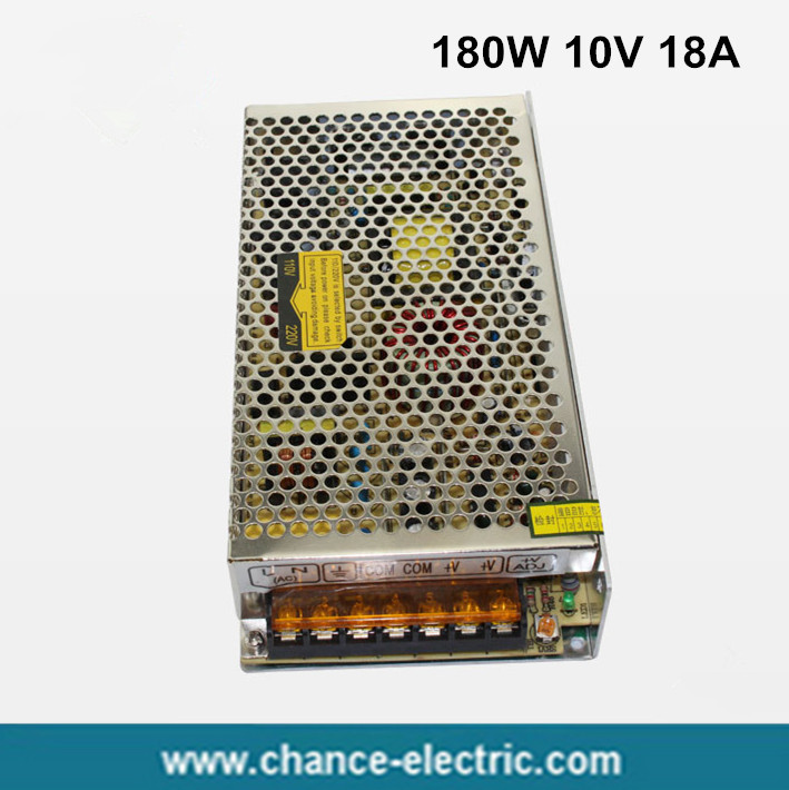 180W 10V 18A Single Output Switching power supply for LED Strip light AC to DC  (S-180W-10v) ac 85v 265v to 20 38v 600ma power supply driver adapter for led light lamp
